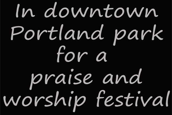 For a praise and worship festival