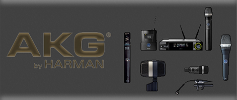 Advocate Sound LLC AKG logo Header with AKG logo on right and Microphone display on the right